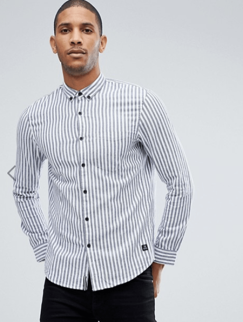 look homme chemise à rayures