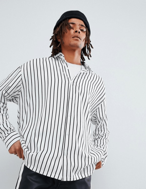 look pour homme chemise oversize