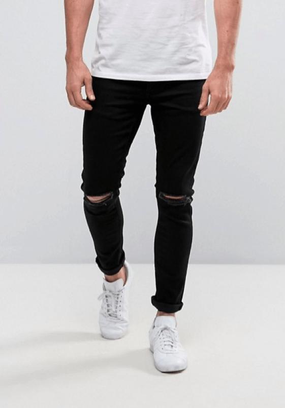 idée de tenue homme look jean troué