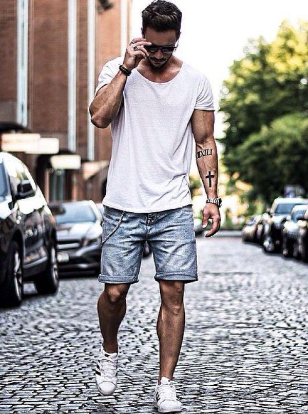 comment porter un short en jean pour homme