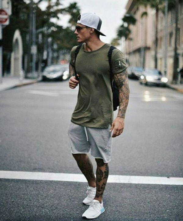 comment porter un short en molleton pour homme