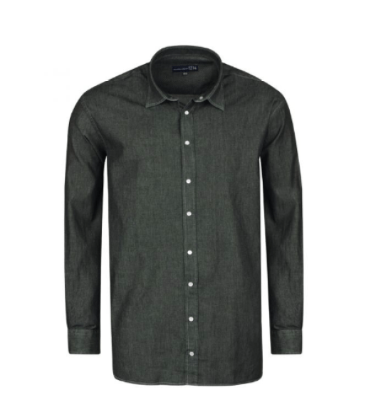vetement grande taille chemise pour homme style denim