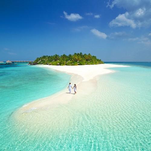 eau transparente des Maldives