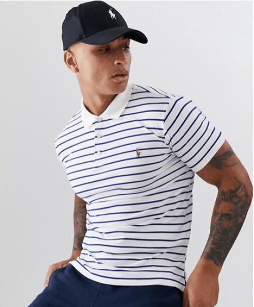 Polo à rayure Ralph Lauren idée look marin