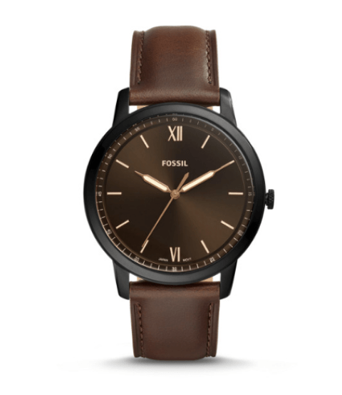 montre en cuir marron idée de look