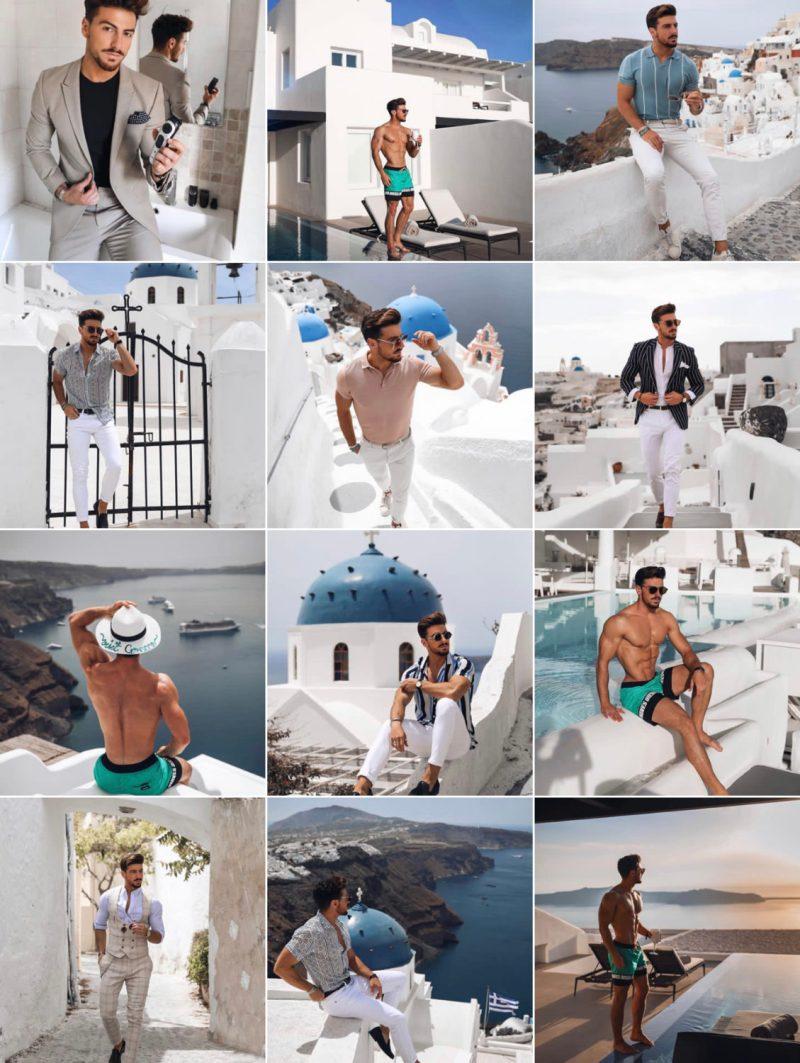 Feed instagram avec filtres neutres