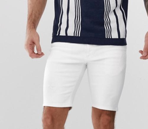 short blanc pour l'été