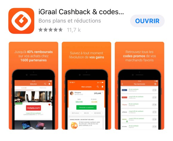 application pour gagner de l'argent en cashback