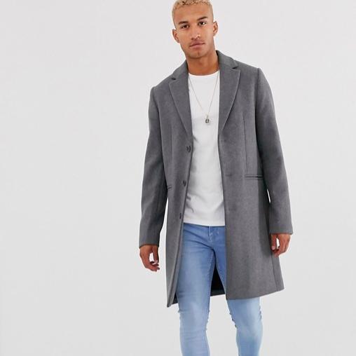 manteau hiver gris homme casual look
