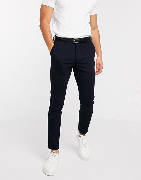 pantalon coupe droite noir homme jersey sélecte homme