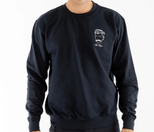 Sweatshirt broderie bleu homme made in France