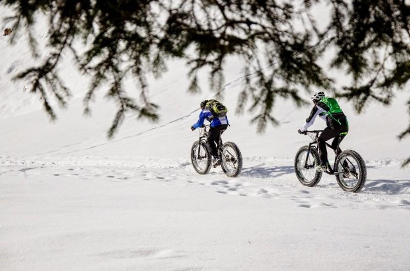 VTT neige sport
