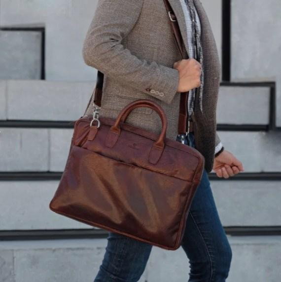 sacoche sac Trendhim homme voyage handmade cuir imperméable