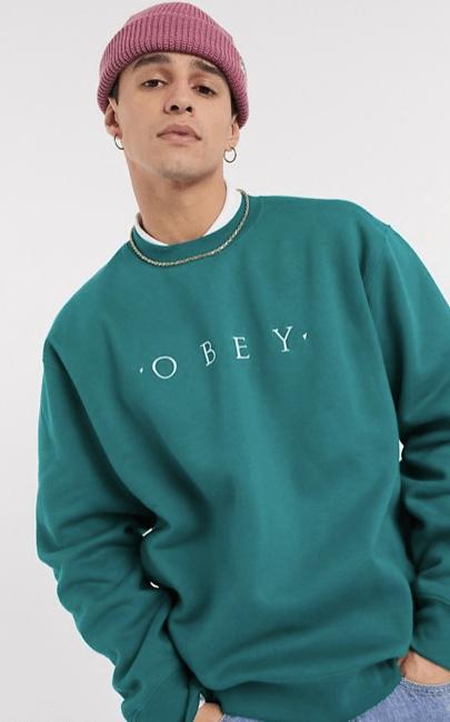 sweatshirt-vert-obey-look-de-la-semaine
