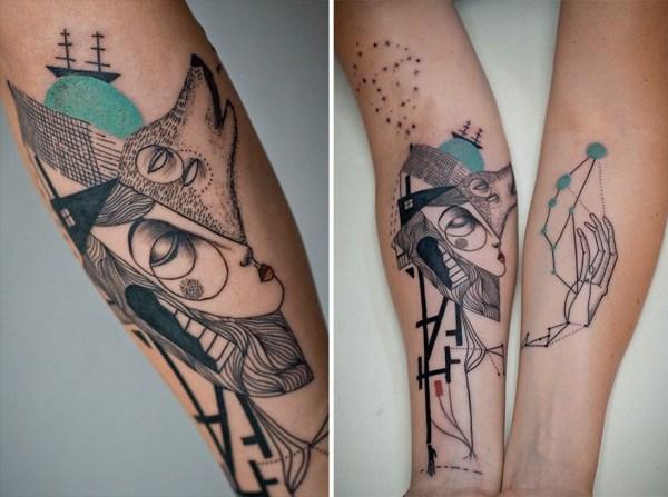 les tatouages les plus à la mode mélange des styles tatouages