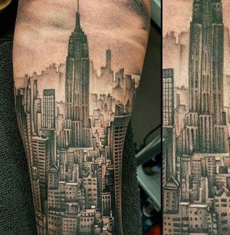 Idée tatouage homme mode architecture