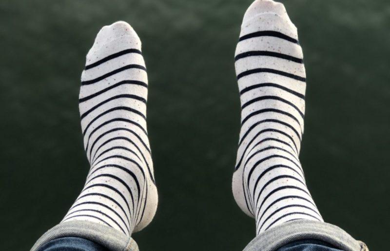 Estampille marque de chaussettes recyclées made in France Chaussettes à la mer