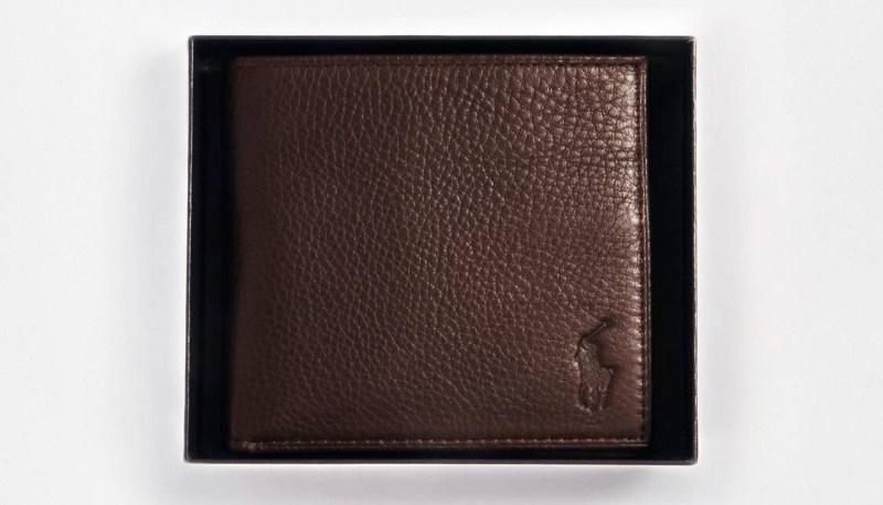 Fête pères cadeau Portefeuille en cuir Polo Ralph Lauren