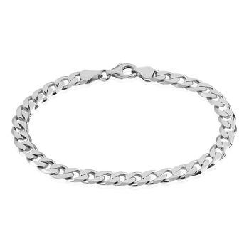 Idée look 40 Bracelet casper maille gourmette en argent blanc