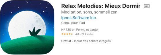 Top 10 apps pour mieux dormir Relax Melodies