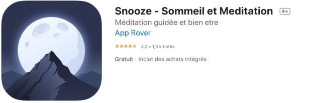 Top 10 des meilleures apps pour mieux dodo Snooze