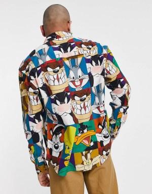 Chemise à imprimé cartoon pop art