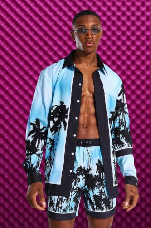 Chemise type tropical