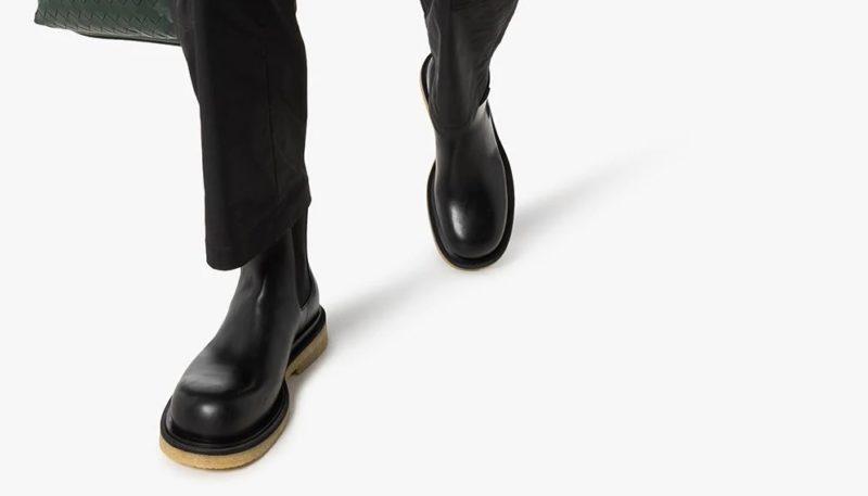 Les meilleures imitations de chaussures de luxe Bottines Bottega Veneta