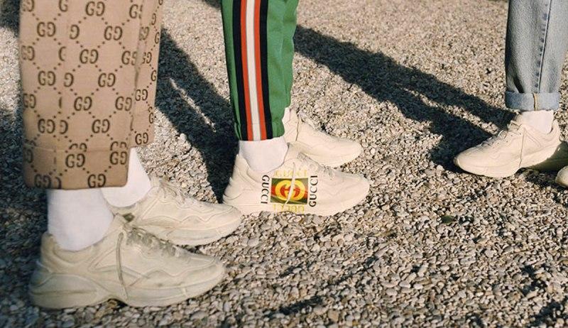 Les meilleures imitations de chaussures de luxe Gucci Rhyton