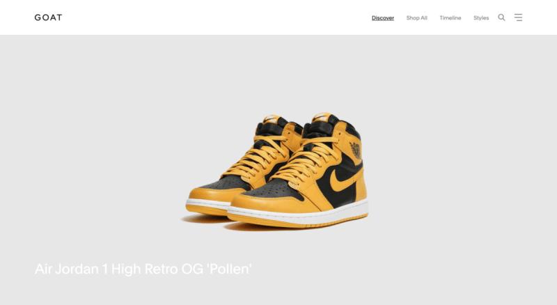 Revendre des sneakers sur GOAT