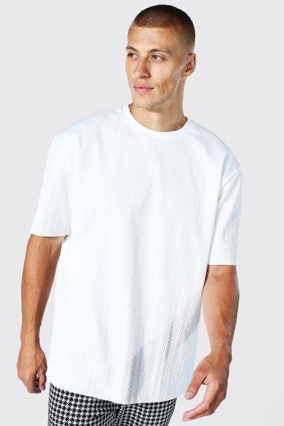 Look de la semaine t-shirt manches courte blanc rayé