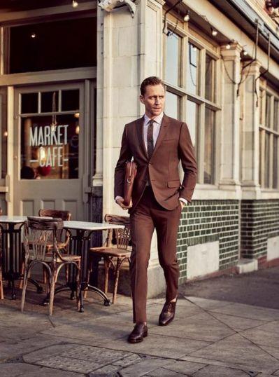 Tenue homme chic avec sac et chaussures en cuir