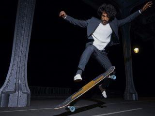 campagne #Envrai Devred veste de costume pour un skateur