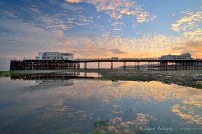 """""""Sunset at Worthing Pier"""""""