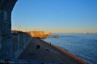 Vista de una de las playas desde la Round Tower, otro de los importantes fuertes militares antíguos.