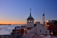 Vista desde el techo de la Round Tower. Primera vista clara del Spinnaker Tower.