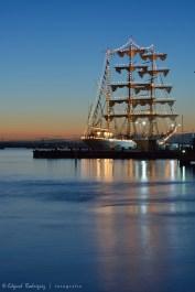 Otro barco en el Portsmouth Historical Dockyard.