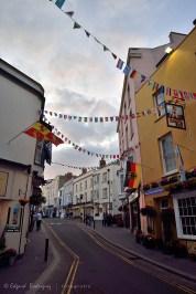 Saint Julian's Street, es una representación típica de las estrechas pero pintorescas calles de Tenby.