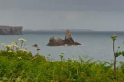 Stackpole. La saliente de roca que le da su nombre al pueblo.