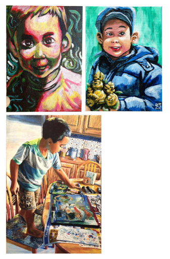 Acrylic Paintings of my Nephews