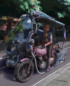 An Illustration of a Baroque/Roccoco Filipino Tricycle