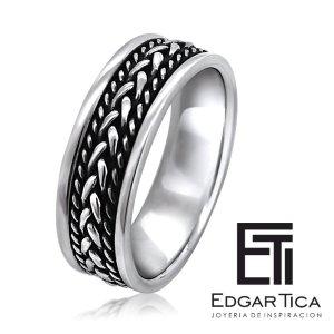 anillo de compromiso con plata 950