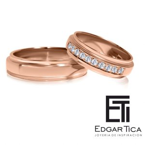 Aro de matrimonio oro rosado 18k