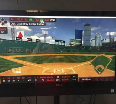 Edge Baseball featuring HitTrax Stats