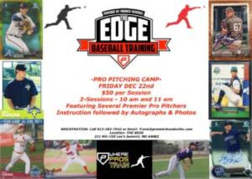 Pro Pitching Camp at The Edge