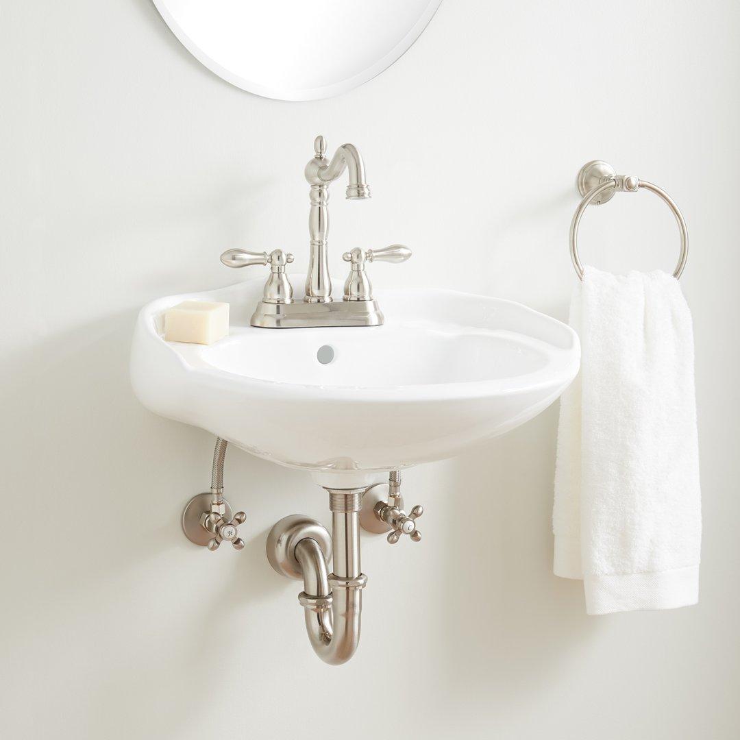 victorian mini porcelain wall mount sink