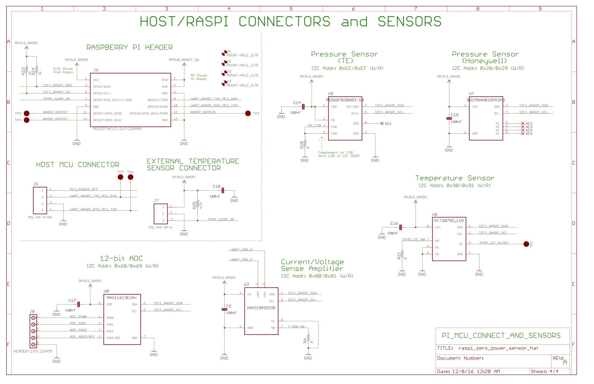 hight resolution of pi hat schematic sensors and raspberry pi msp headers