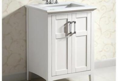 Simpli Home Winston 36 Bath Vanity With Quartz Marble Top