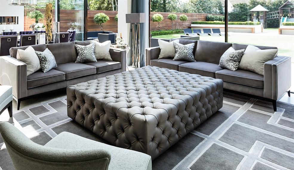 luxury upholstered ottoman luxury