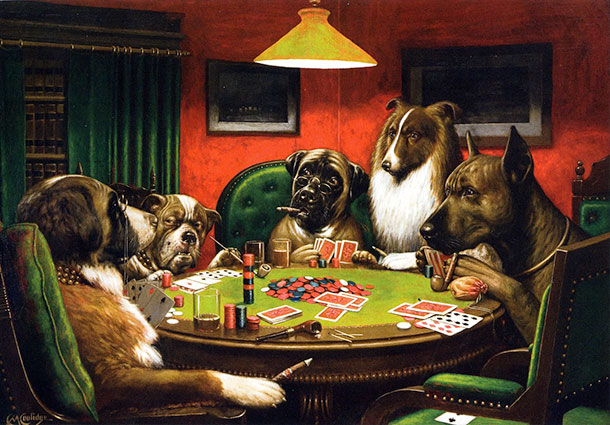 Sharps Nudes And Dogs Cards And Poker As Inspiration